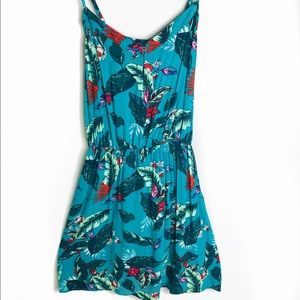 NWOT Xhilaration Green Floral Swing Dress Large